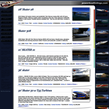 Powerboatlistings Com At Wi Powerboat Listings Powerboats For Sale