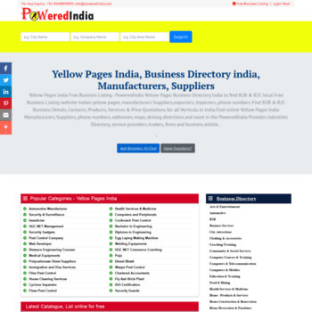poweredindia com at WI  Yellow Pages India, Online Business