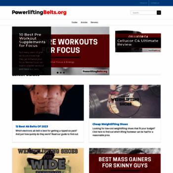 Powerliftingbelts.org thumbnail