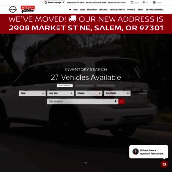 Power Nissan Salem Oregon >> Powernissansalem Com At Wi Power Nissan New Nissan Dealership In