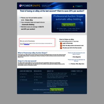 Ebay Bid Sniper >> Powersnipe Com At Wi Auction Sniper Powersnipe Ebay Sniper