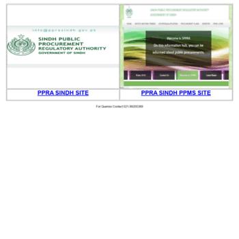 Pprasindh.gov.pk thumbnail