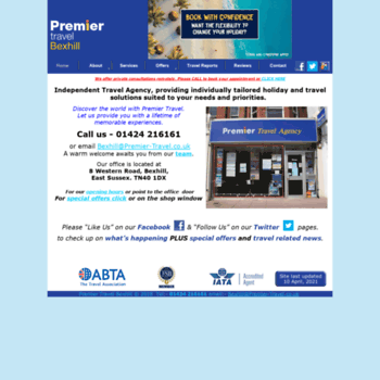 Premiertravelbexhill.co.uk thumbnail