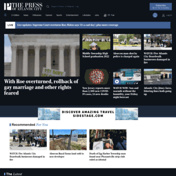 pressofatlanticcity com at WI  Press of Atlantic City