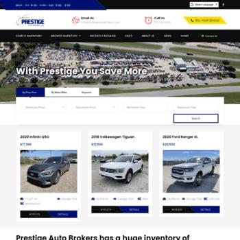 Prestigeautobrokers Com At Wi Prestige Auto Brokers Repairable
