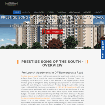 Prestigesongofsouth.net thumbnail