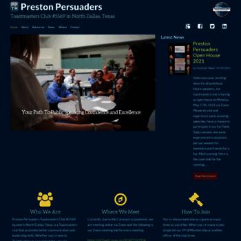 Prestonpersuaders.org thumbnail