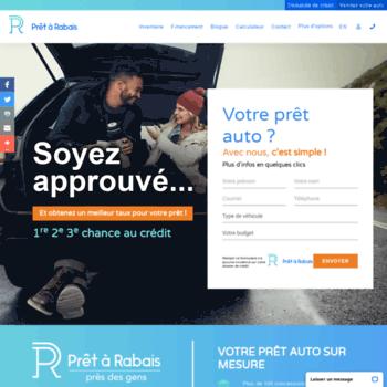 Pret A Rabais >> Pretarabais Com At Wi Financement Auto Credit Approuve Bon Ou