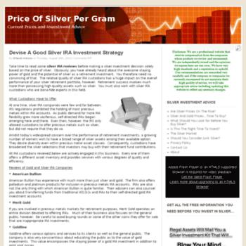Priceofsilverpergram.org thumbnail
