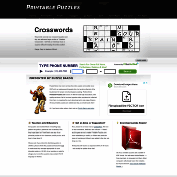 image about Thomas Joseph Printable Crosswords referred to as at WI. Printable Puzzles