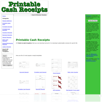 printablecashreceipts com at wi printable cash receipts