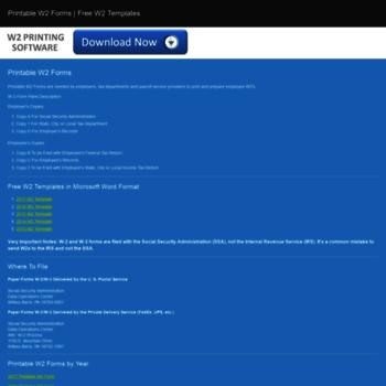 printablew2form com at WI  Printable W2 Forms - Free