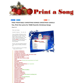 graphic relating to Printable Christmas Songs named at WI. Print a Tune - No cost Printable