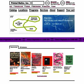 Printedmatter.org thumbnail