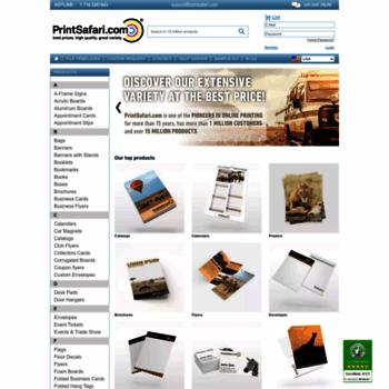 printsafari com at WI  Online Printing Services, Bulk