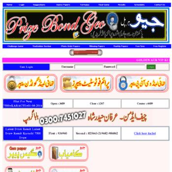 prizebondgeo com at WI  PrizebondGeo Com -Naseeb Photo state