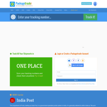 pro packagetrackr com at WI  Universal Package Tracking