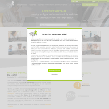 Projet-voltaire.fr thumbnail