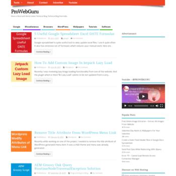 Prowebguru.com thumbnail