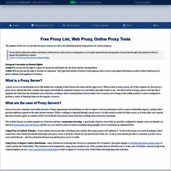 proxynova com at WI  ProxyNova - Fresh Proxy Server List, Free