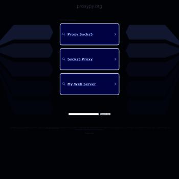 Proxypy.org thumbnail