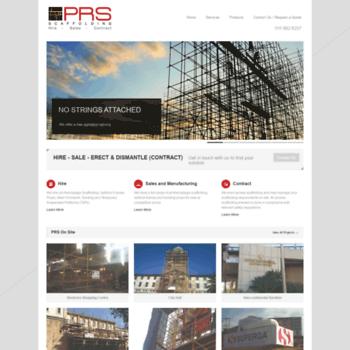Prs-scaffolding.co.za thumbnail