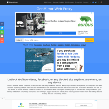 prx2 genmirror com at WI  Unblock YouTube Proxy - GenMirror free SSL