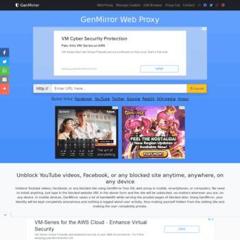 prx3 genmirror com at WI  Unblock YouTube Proxy - GenMirror free SSL
