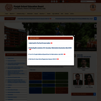 WWW_DESTOON_ORG_pseb.ac.inatWI.WelcometoPSEB,Phase8Mohali,Punjab