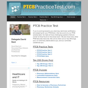 ptcbpracticetest com at WI  PTCB Practice Test   Free Pharmacy