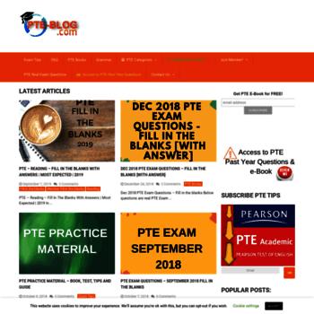 pte-blog com at WI  PTE Preparation Blog