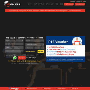 ptevoucher in at WI  PTE Exam Voucher + 50 Mock Tests @ ₹10381*