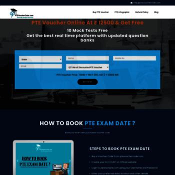 ptevouchercode com at WI  Buy PTE Voucher + 11 Mock Tests