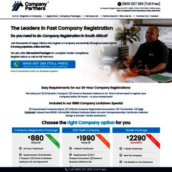 Ptycompanyregistration.co.za thumbnail
