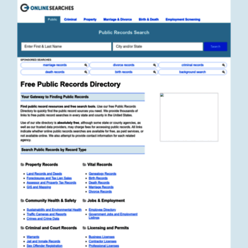 publicrecords onlinesearches com at WI  Free Public Records