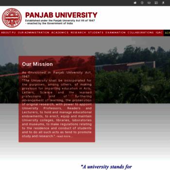 Puchd.ac.in thumbnail