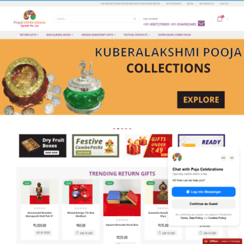 pujacelebrations com at WI  Shop Online for Pooja Festival
