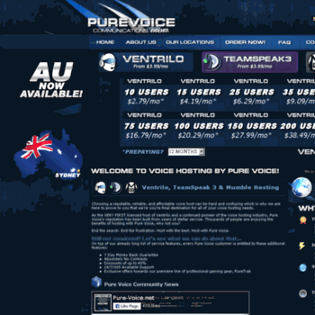 pure-voice net at WI  Quality Ventrilo, TeamSpeak, and