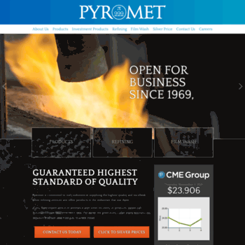 pyromet999 com at WI  Pyromet Silver Refinery | Silver