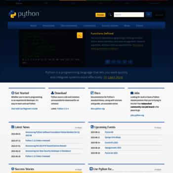 Python.org thumbnail
