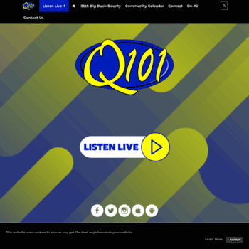 Q101radio.net thumbnail