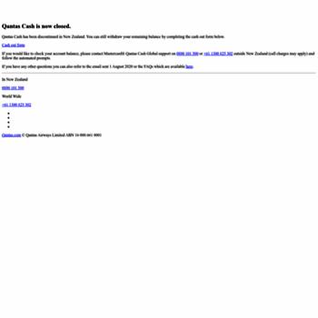 qantascash co nz at WI  Travel Money & Prepaid Cash Card