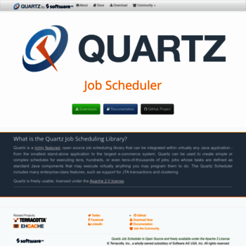 quartz-scheduler org at WI  Quartz Enterprise Job Scheduler