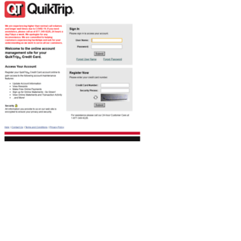 quiktrip fdecs com at Website Informer  Sign In  Visit