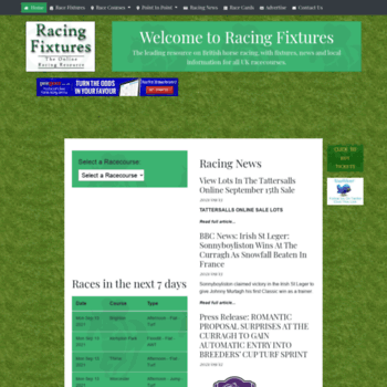 Racingfixtures.co.uk thumbnail