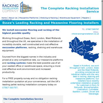 Rackinginstallation.co.uk thumbnail