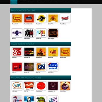 radiosindia com at WI  Indian radio stations online FM radio and AM