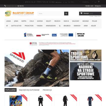 fe636ff4c Rajsport.pl thumbnail. Alexa Rank: 9167288. Sklep Rajsport Sieradz