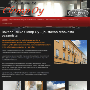 Rakennusliikeclomp.fi thumbnail