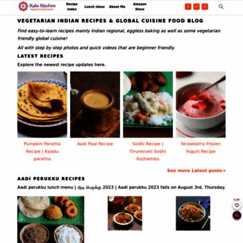 Rakskitchen Net At Wi Raks Kitchen Indian Vegetarian Recipes